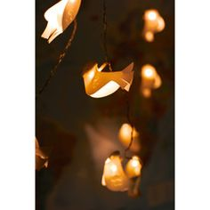 Paper Bird Fairy Lights