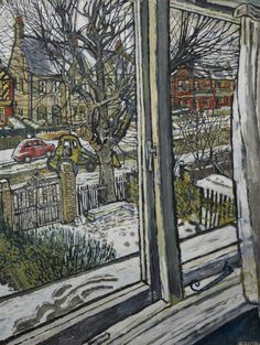 John Randall Bratby (England 1928-1992) Bulldozing Away the Snow, Plymouth City Council: Museum and Art Gallery.