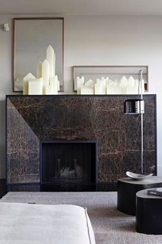 If you are looking to give your room a focal point or something to highlight it, look no further than the fireplace mantel that's already there. Many tend to leave their fireplace mantels bar… Home Fireplace, Modern Fireplace, Living Room With Fireplace, Fireplace Surrounds, Fireplace Design, Fireplace Mantels, Fireplaces, Fireplace Ideas, Mantle