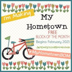 Free Block of the Month- My Hometown - Options for applique, hand embroidery, or just piecing. 2 Colorways - #MyHometownBOM #quilt #FreeBlockOfTheMonth Quilt Blocks Easy, Quilt Block Patterns, Pattern Blocks, Quilted Potholders, Table Runner Pattern, Block Of The Month, Sewing Rooms, Quilting Tutorials, Easy Gifts