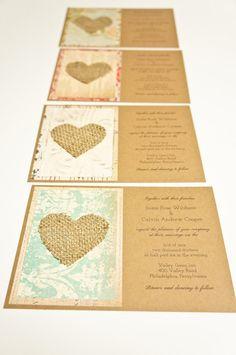 Wedding Invitation - Shabby Chic and Vintage Inspired - Invitation Only. $2.75, via Etsy.