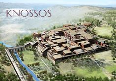 The palace of Knossos was built between 1700 and 1400 BC, it was the ceremonial and political center of the Minoan civilization, on the island of Crete in Greece Greek History, Ancient History, European History, Art History, American History, Ancient Greece, Ancient Egypt, Ancient Aliens, Ancient Artifacts