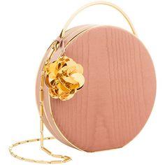 Eddie Borgo Pink Chet Minaudiere Bag ($1,490) ❤ liked on Polyvore featuring bags, handbags, pink, eddie borgo, eddie borgo bag, circle bag, hardware bag and red handbags