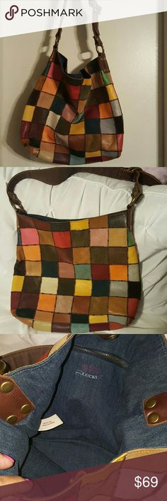 Lucky Brand Handbag In used condition has minor wear on outside 14 1/2 x 12 Lucky Brand Bags Shoulder Bags