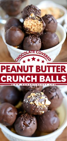 These crunch balls make a fun Easter dessert! Everyone will go crazy over these outrageous chocolate-covered peanut butter balls. Plus, a batch of this easy dessert recipe yields A LOT of delicious candies. The perfect sweet treat for sharing! Save this and try it! Easy Chocolate Desserts, Easy Desserts, Delicious Desserts, Dessert Recipes, Yummy Food, Fun Recipes, Simple Recipes, Ooey Gooey Recipe, Desert Recipes