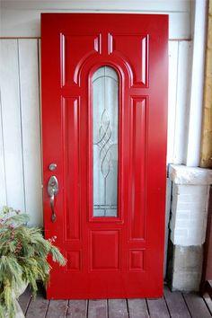 Red warning door | Red Doors | Pinterest | Doors and Red