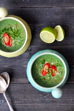 spicy spinatsuppe Guacamole, Soup Recipes, Salsa, Spicy, Mexican, Vegan, Cooking, Healthy, Ethnic Recipes