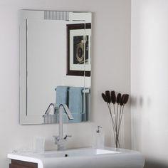 Frameless Designer Wall Mirror Bevel Hall Bathroom  31.5x 23.5   80.00