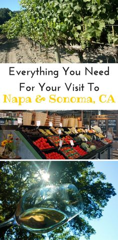 Everything you need to know for your next trip to California Wine Country. What to do, where to stay, places to eat, and must visit wineries in Napa and Sonoma.