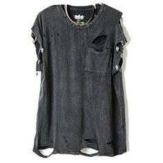 at $24 ill stick to $2 thrift store shirts and rough them up myself! | Punk Style Ripped T-Shirts With Skeleton Embellishment