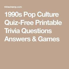 Printable Pop Culture Quiz Questions and Answers - How much do you know about the fads of the nineties? Pop Culture Quiz, Pop Culture Trivia, 1980s Pop Culture, Trivia Questions For Kids, Quiz Questions And Answers, Question And Answer, This Or That Questions, Science Trivia, 2000s Pop