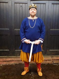 Macarius and his new baggy pants and tunic.