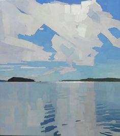 """Blanketing Sky"" by Sue Charles @suecharlesstudio is the Institution for Savings Charitable Foundation Award winner for Best Work in Oil.…"