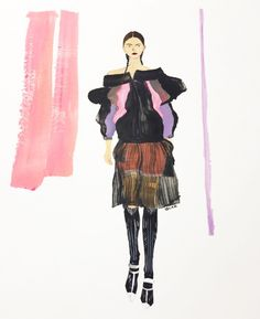 YooJin Guak Illustration   Prada Cruise