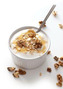 ovsené vločky s jogurtom a medom