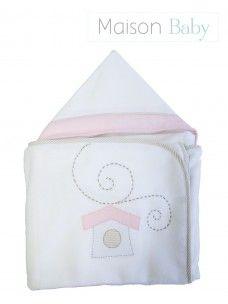 Toalha de banho com capuz Maison Baby - Passarinho