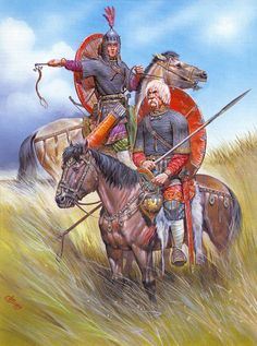 Russian cavalry, during the Mongol invasion of Russia