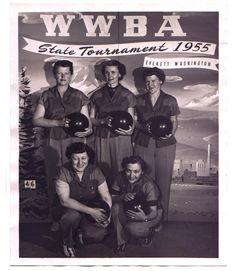 Women's bowling league, State Tournament 1955. Everett Washington.