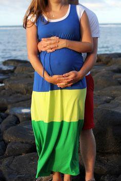 Hawaii Beach Maternity Photos, while on a Babymoon in Kauai
