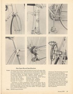 <------ Bicycling Magazine 01-1978 ------> Alan Super Record