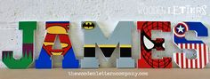 wooden super hero letters - Google Search                                                                                                                                                                                 More