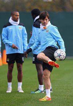 David Silva - Manchester City Training