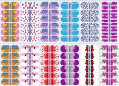 moldes de adesivos de unhas