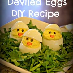 Easter Chicks Deviled Eggs DIY ~ simple money saving recipe