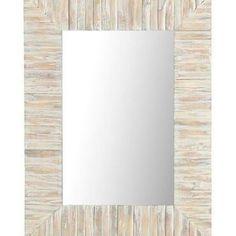 Eternal Whitewashed Wood Framed 30x40 Mirror