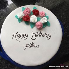 Birthday Cake Images With Name And Picture - Pictures of Cakes and Candles Birthday Cake Write Name, Image Birthday Cake, Birthday Wishes With Name, Birthday Cake Writing, Happy Birthday Cake Pictures, Happy Birthday Wishes Cake, Birthday Cake With Photo, Happy Birthday Wallpaper, Cake Name