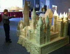 Yes, you too can make an ENTIRE replica of Hogwarts out of matchsticks...Awesome!!