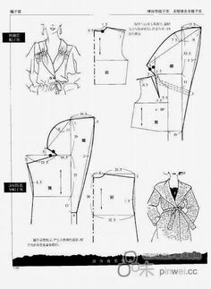 Chinese method of pattern making. capuche (hood) #sewing #patternmaking. Patrón chaqueta con solapas capucha.
