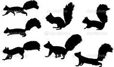 squirrel silhouette - Google Search