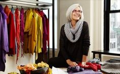 Eileen Fisher; article about women who are over 50 and fabulous--I love her clothes! Most of my work wordobe is her clothes. They are perfect for those of us over 50 set.