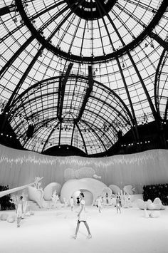 Chanel fashion show in Paris. Not only a fashion show in paris, but also a Chanel fashion show.