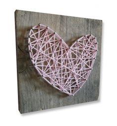 Nails Wood Art - Heart