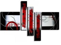 Ma 024 cuadro abstracto azul turquesa cuadros modernos for Cuadros minimalistas modernos