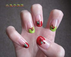 apples! back to school nails for a teacher?