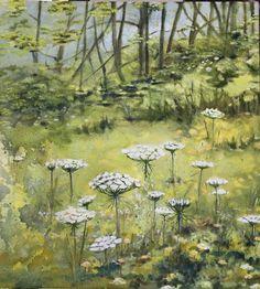 Lace flowers: Oil on canvas by Susan Slump Venter Lace Flowers, Oil On Canvas, My Arts, Painting, Painting Art, Paintings, Painted Canvas, Drawings
