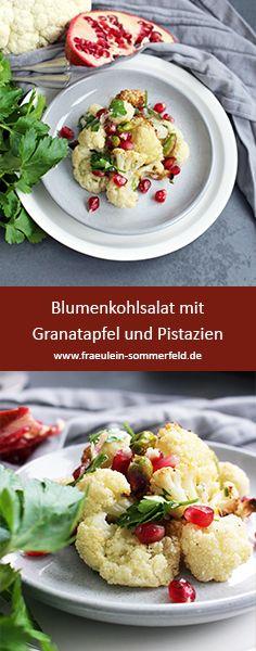 #simple #ottolenghi #buchempfehlung #kochbuch #foodblog #blumenkohl #salat #easy #leichteküche Yotam Ottolenghi, Potato Salad, Potatoes, Ethnic Recipes, Easy, Food, Cauliflower Salad, Pistachios, Mint