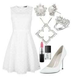 WhiTe by sassysarafina on Polyvore featuring polyvore fashion style Tommy Hilfiger Stuart Weitzman Allurez Bloomingdale's MAC Cosmetics NARS Cosmetics clothing