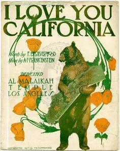 California Cool: 1913 sheet music cover