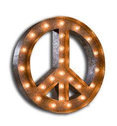 Vintage Marquee Light-Peace Sign - Vintage Marquee Lights - $229.00-Home Decor Ideas-Concept Candie Interiors-----Pinned by #conceptcandieinteriors #homedecor