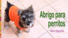 Abrigos tejidos en dos agujas con trenzas para perritos! Paso a paso en español :)