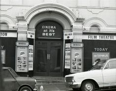 """The Continental Cinema Brighton, noted for the showing of """"racy"""" films. Located somewhere in Kemp Town near the top of St James Street"""