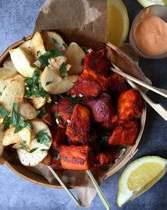 Tandoori Fish with Yucca/Cassava/Tapioca Chips