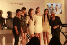 A Complete White set for MAC Trends Summer and Spring 2013. Models and Super Models with Mickey and Sonic
