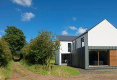Zero Carbon Passive House Co. Building Design, Building A House, House Designs Ireland, Zinc Cladding, Dormer House, Ireland Homes, Brick Facade, Energy Efficient Homes, Passive House