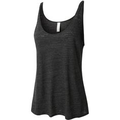 LE3NO PREMIUM Womens Comfy Loose Fit Scoop Neck Flowy Tank Top (17 CAD) ❤ liked on Polyvore featuring tops, loose fitting tanks, round top, scoop neck top, long tank tops and loose tops