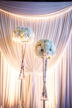 #Ceremony Decor | Rustic Elegance + Draping | See the wedding on #SMP: http://www.stylemepretty.com/illinois-weddings/chicago/2013/12/26/fultons-on-the-river-wedding/ Ann & Kam Photography & Cinema